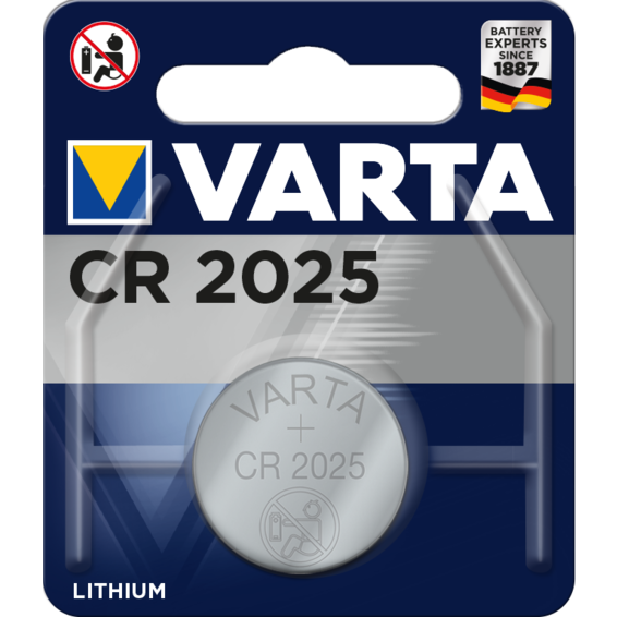 [6025112401] Pilas CR2025 litio 3V Varta